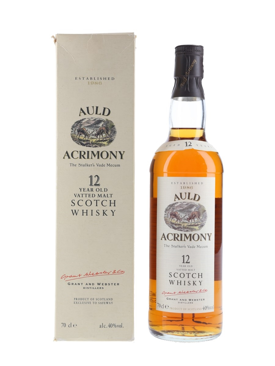 Auld Acrimony 12 Year Old Bottled 1990s 70cl / 40%