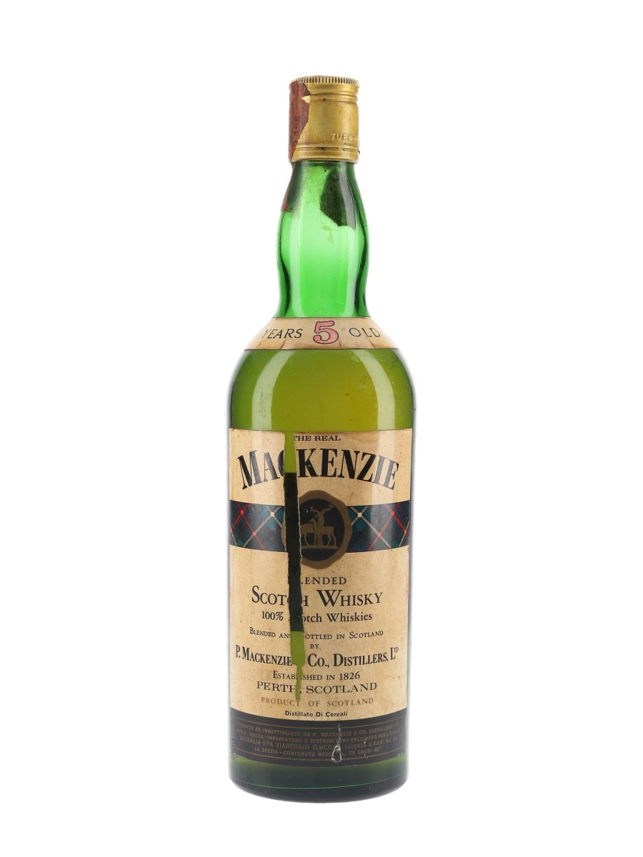 The Real Mackenzie 5 Year Old Bottled 1970s - Aethalia 75cl / 40%