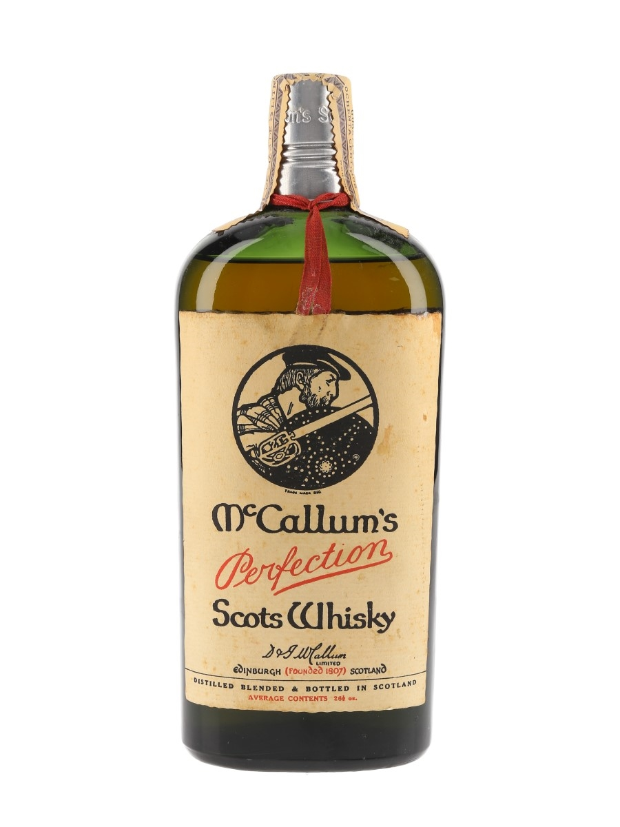 McCallum's Perfection Bottled 1950s - D & J McCallum Ltd. 75cl / 40%