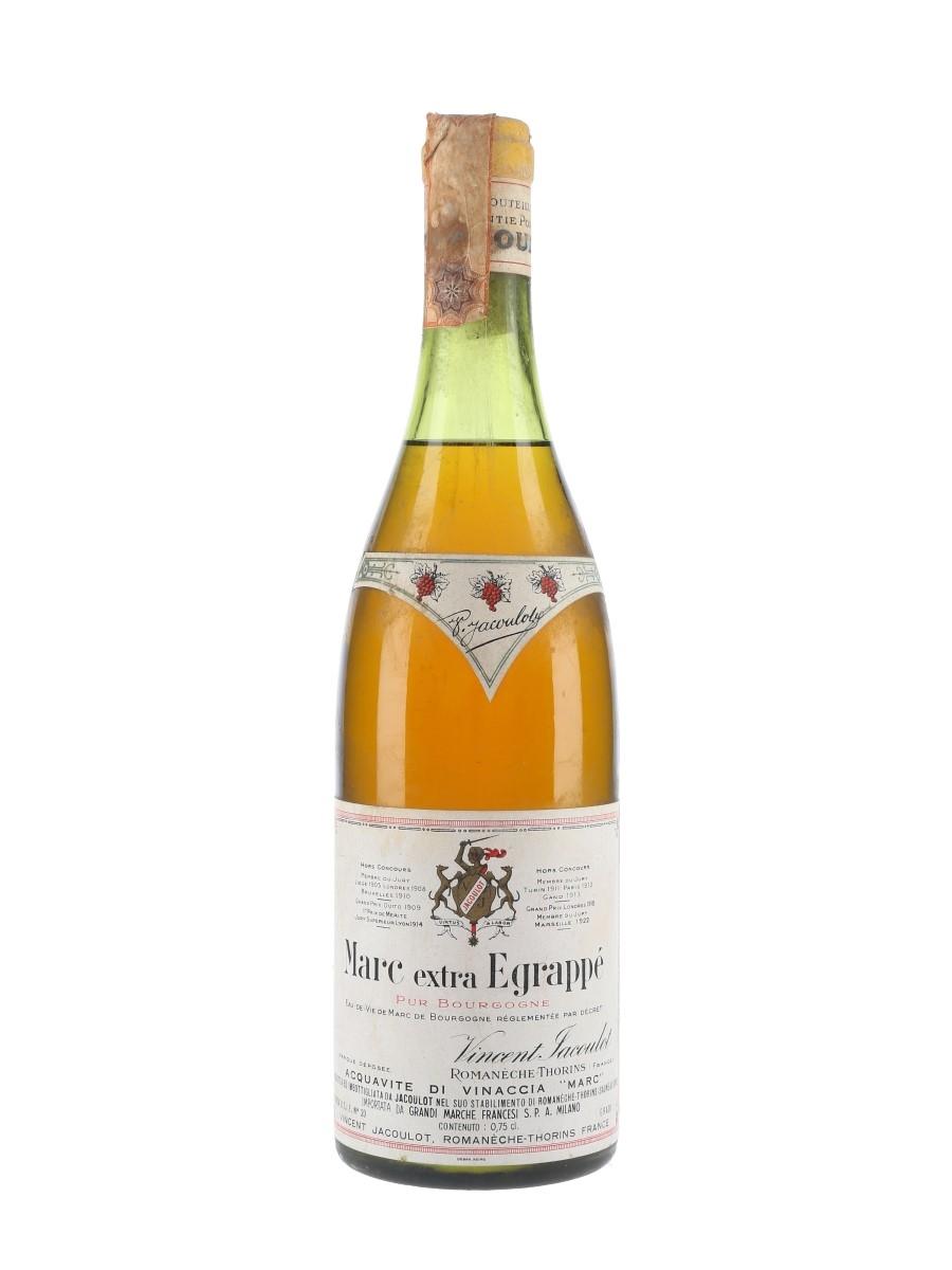 Jacoulot Marc De Bourgogne Extra Egrappe Bottled 1960s - Grandi Marche Francesi 75cl / 45%