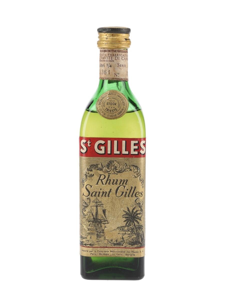 Saint Gilles Rhum Bottled 1960s - Stock 25cl / 45%