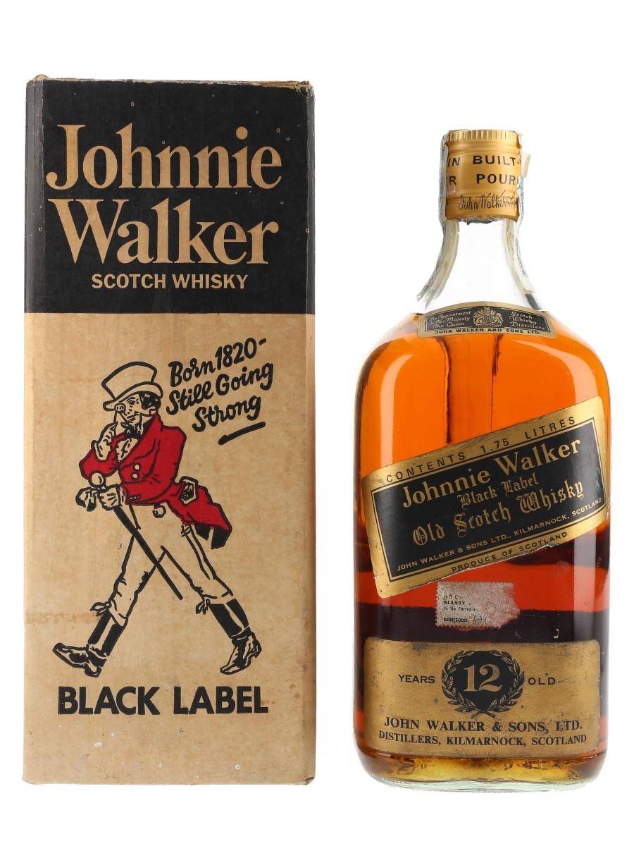 Johnnie Walker Black Label 12 Year Old Bottled 1970s - Large Format 175cl