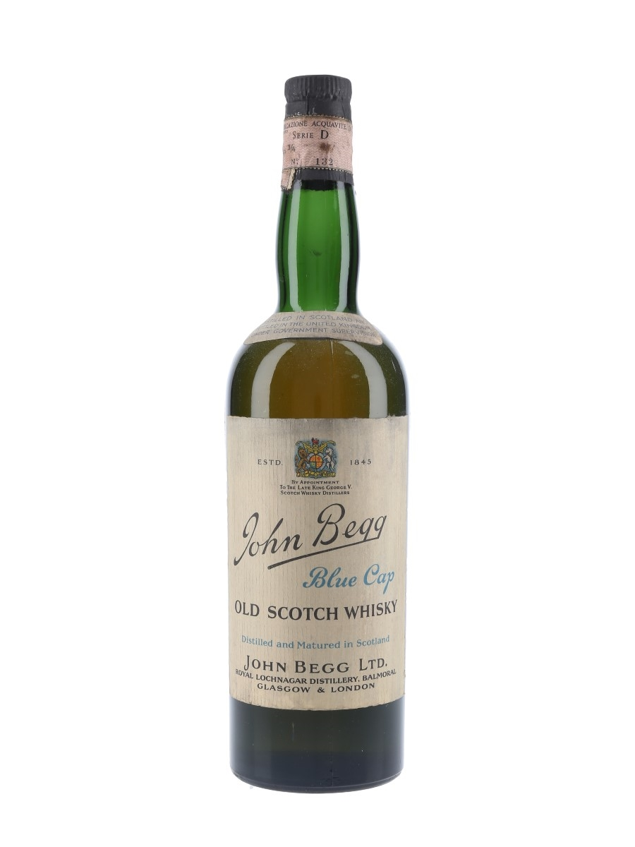 John Begg Blue Cap Bottled 1950s 75cl / 43%