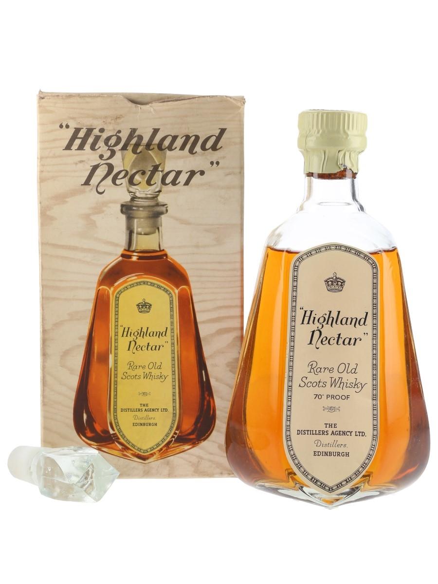Highland Nectar Bottled 1960s-1970s - The Distillers Agency 75cl / 40%