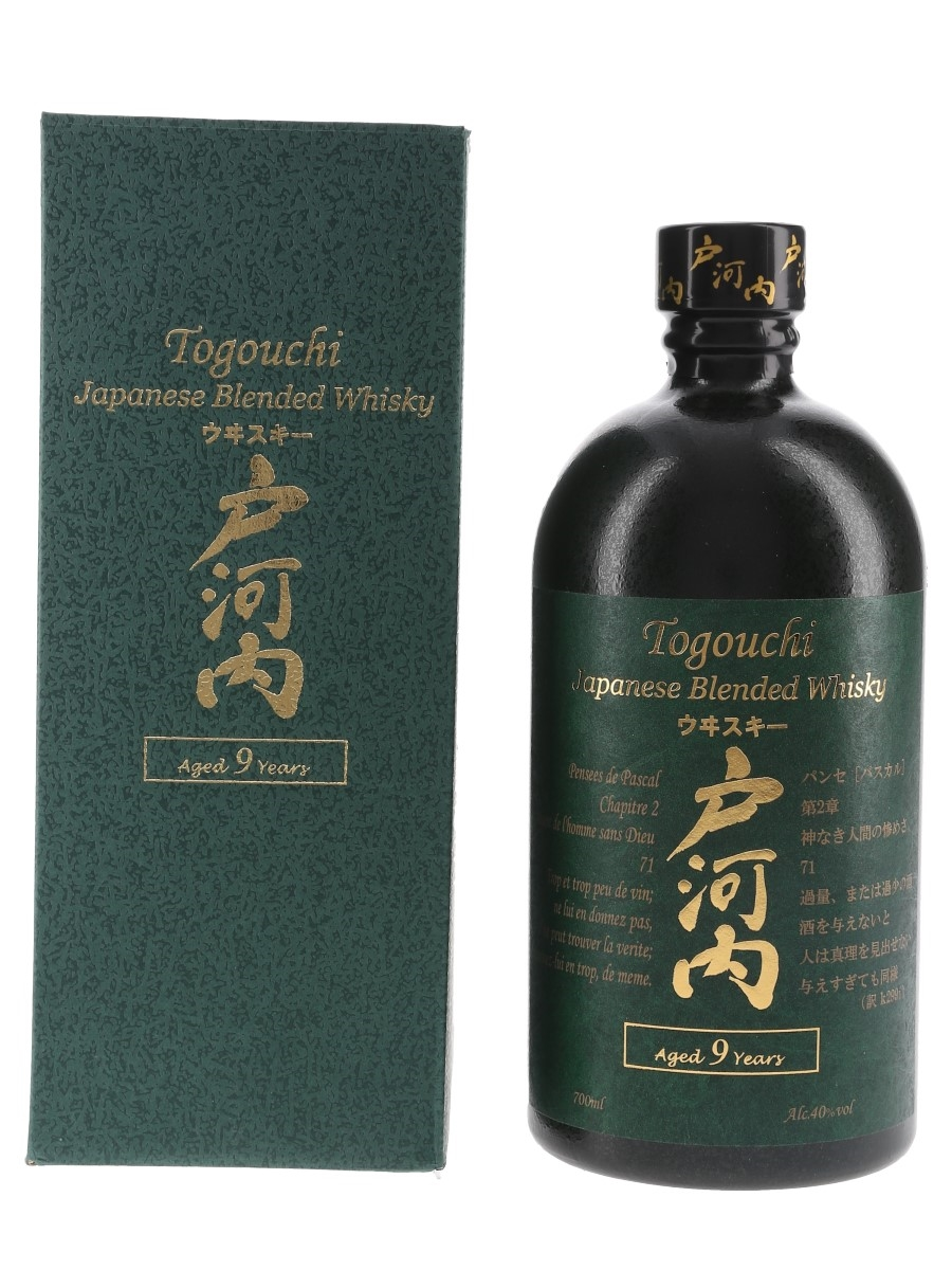 Togouchi 9 Year Old  70cl / 40%