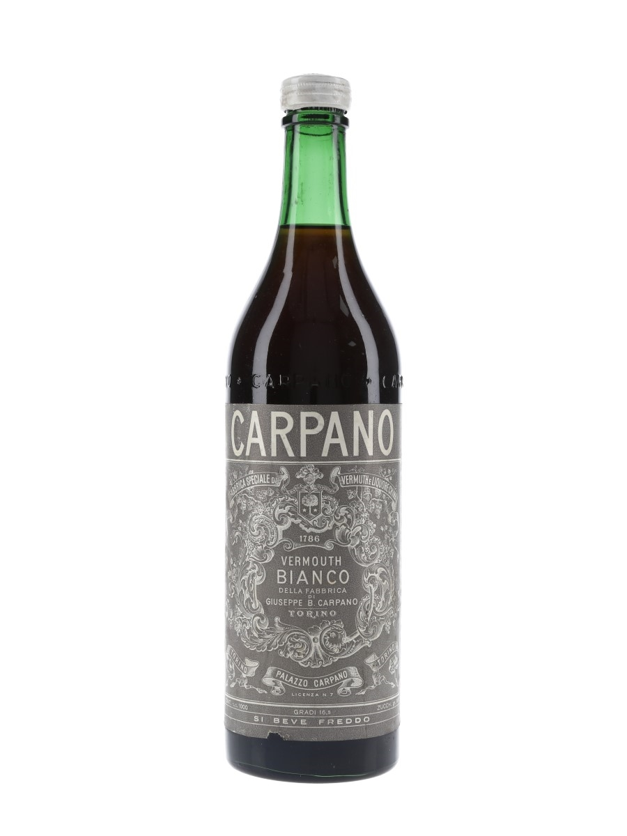Carpano Vermouth Bianco Bottled 1950s 100cl / 16.5%