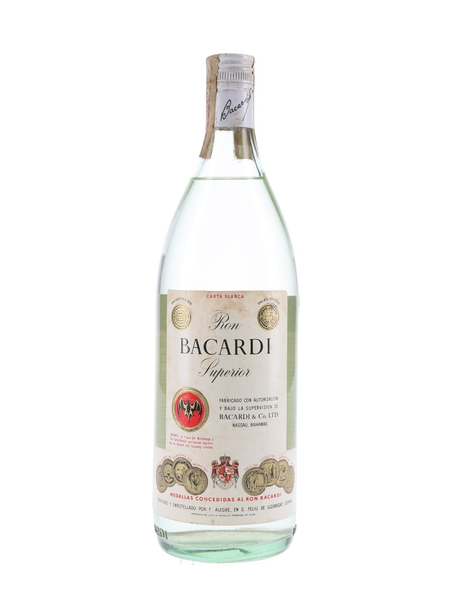 Bacardi Carta Blanca Superior Bottled 1970s 100cl