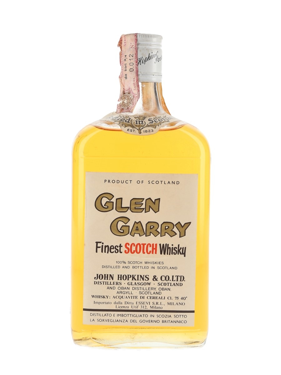 Glen Garry Bottled 1970s - Oban Distillery 75cl / 40%
