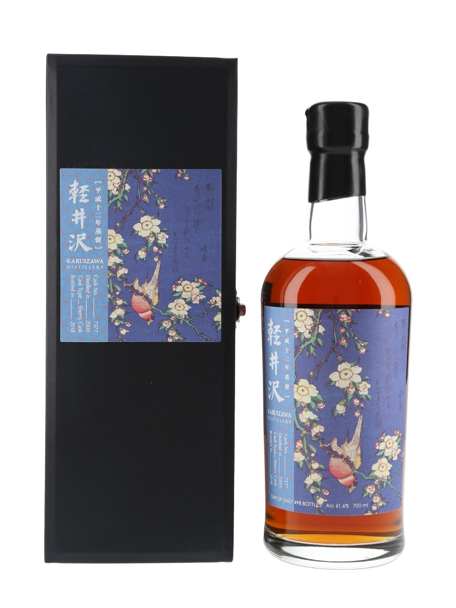 Karuizawa 2000 Flower & Bird Series Cask 7377 Bottled 2018 - Bullfinch & Weeping Cherry Blossom 70cl / 61.6%