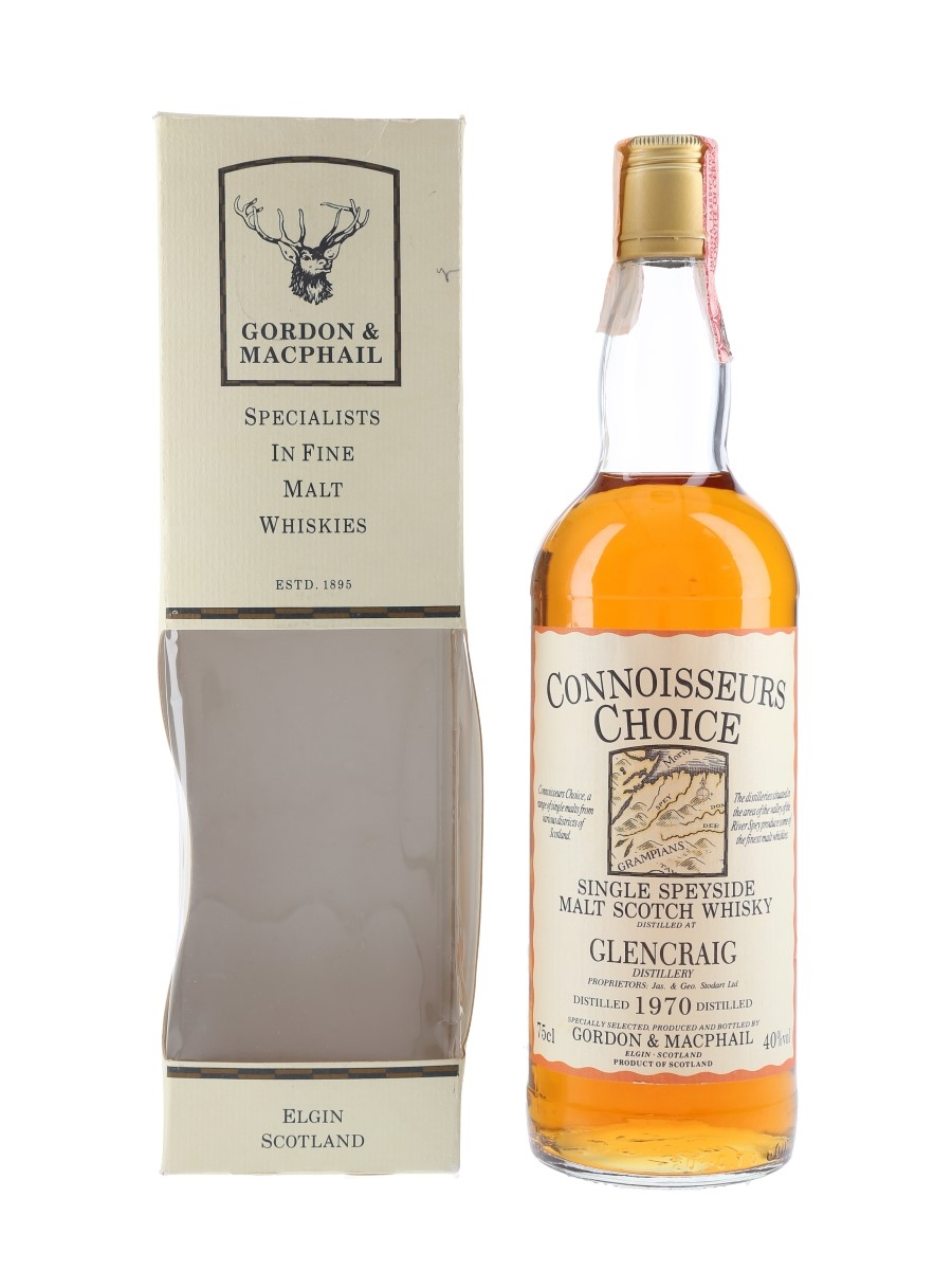 Glencraig 1970 Connoisseurs Choice Bottled 1980s 75cl / 40%