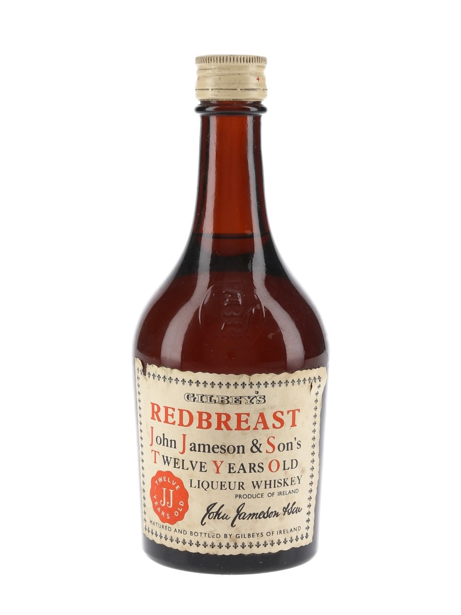 Gilbey's Redbreast 12 Year Old Bottled 1960s - John Jameson & Son 35cl