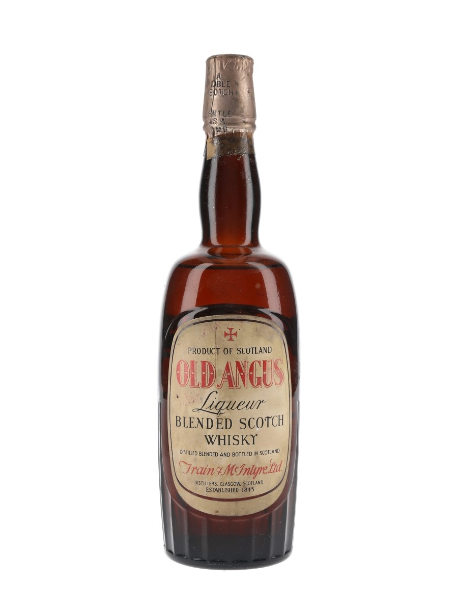 Old Angus Bottled 1940s-1950s - Train & McIntyre 75cl