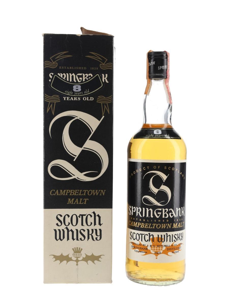 Springbank 8 Year Old Bottled 1980s - Consorzio Vinicolo 75cl / 43%