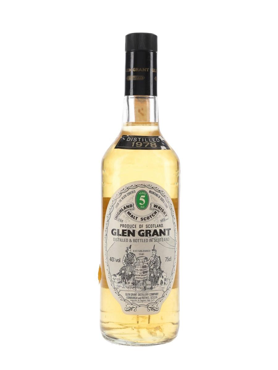 Glen Grant 1978 5 Year Old Bottled 1980s - Seagram Italia 75cl / 40%