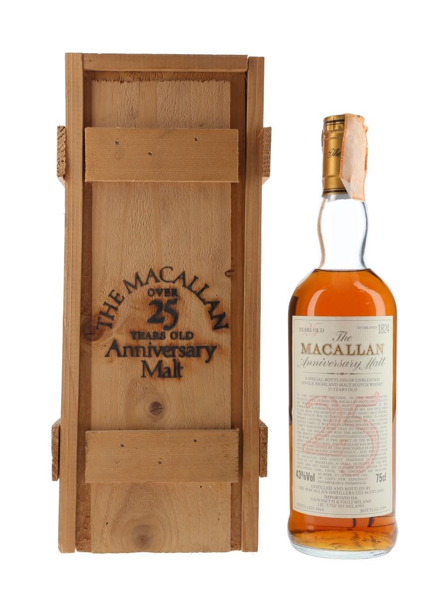 Macallan 1964 25 Year Old Anniversary Malt Bottled 1989 - Giovinetti 75cl / 43%