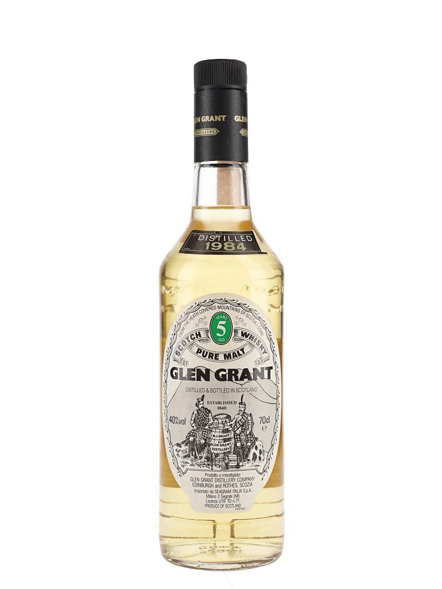 Glen Grant 1984 5 Year Old Bottled 1980s - Seagram Italia 75cl / 40%