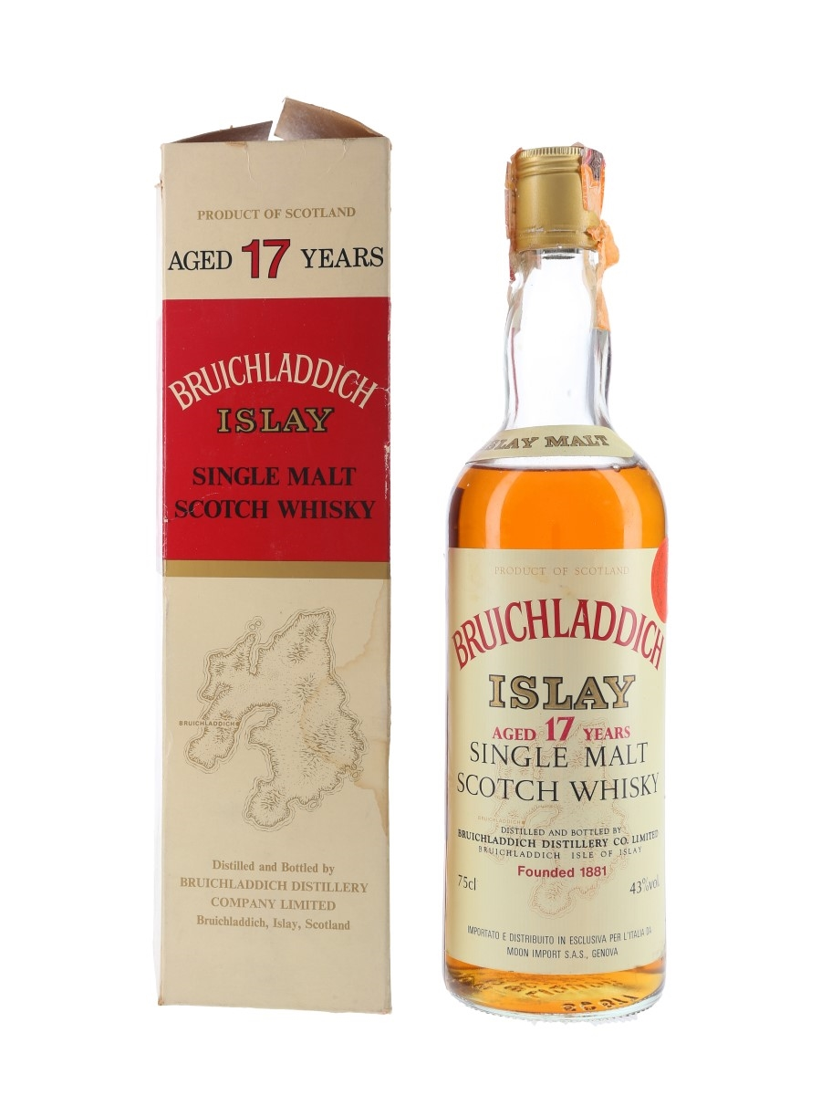 Bruichladdich 1964 17 Year Old Bottled 1981 - Moon Import 75cl / 43%