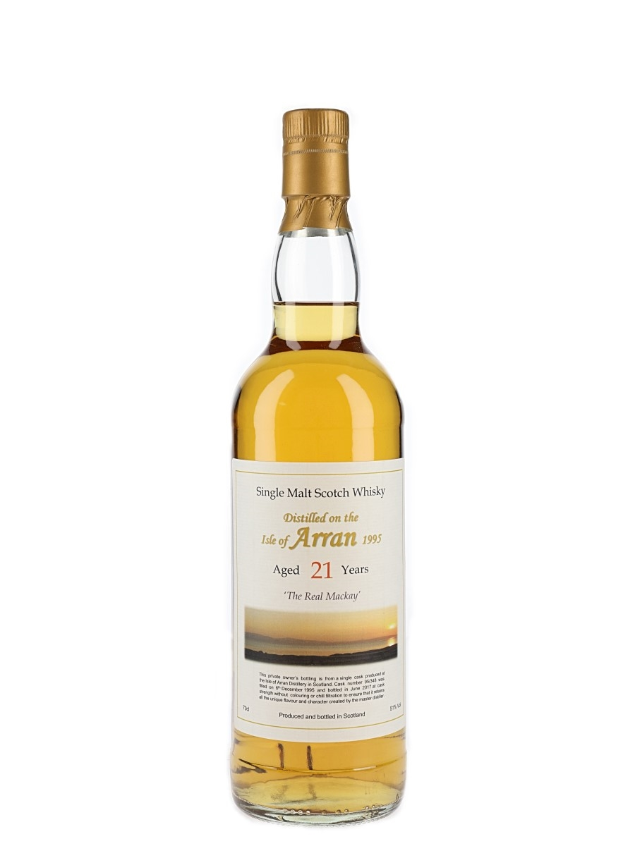 Arran 1995 21 Year Old Private Cask Bottled 2017 - The Real Mackay 70cl / 51%