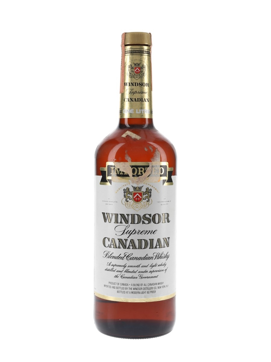 Windsor Supreme Canadian Whisky Bottled 1980s 100cl / 40%