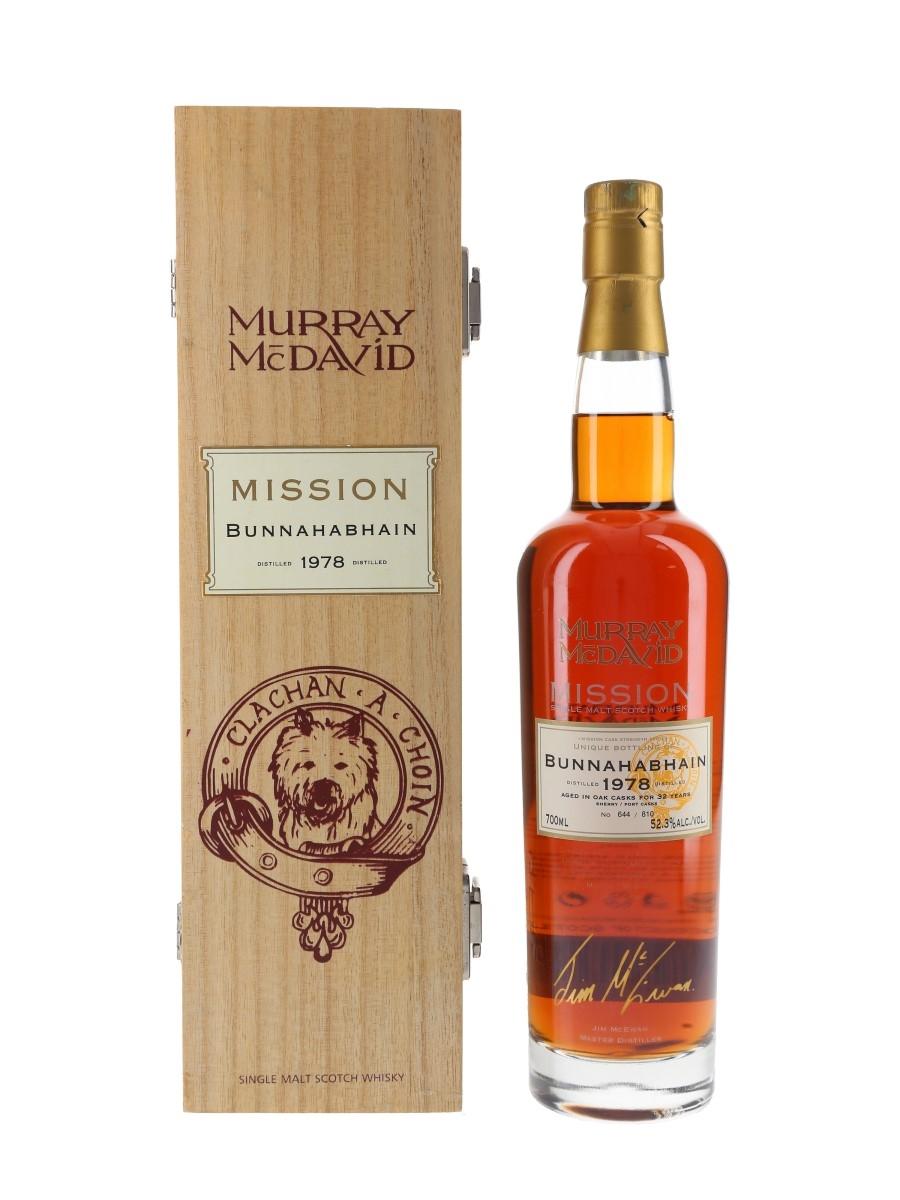 Bunnahabhain 1978 32 Year Old Murray McDavid - Mission 70cl / 52.3%