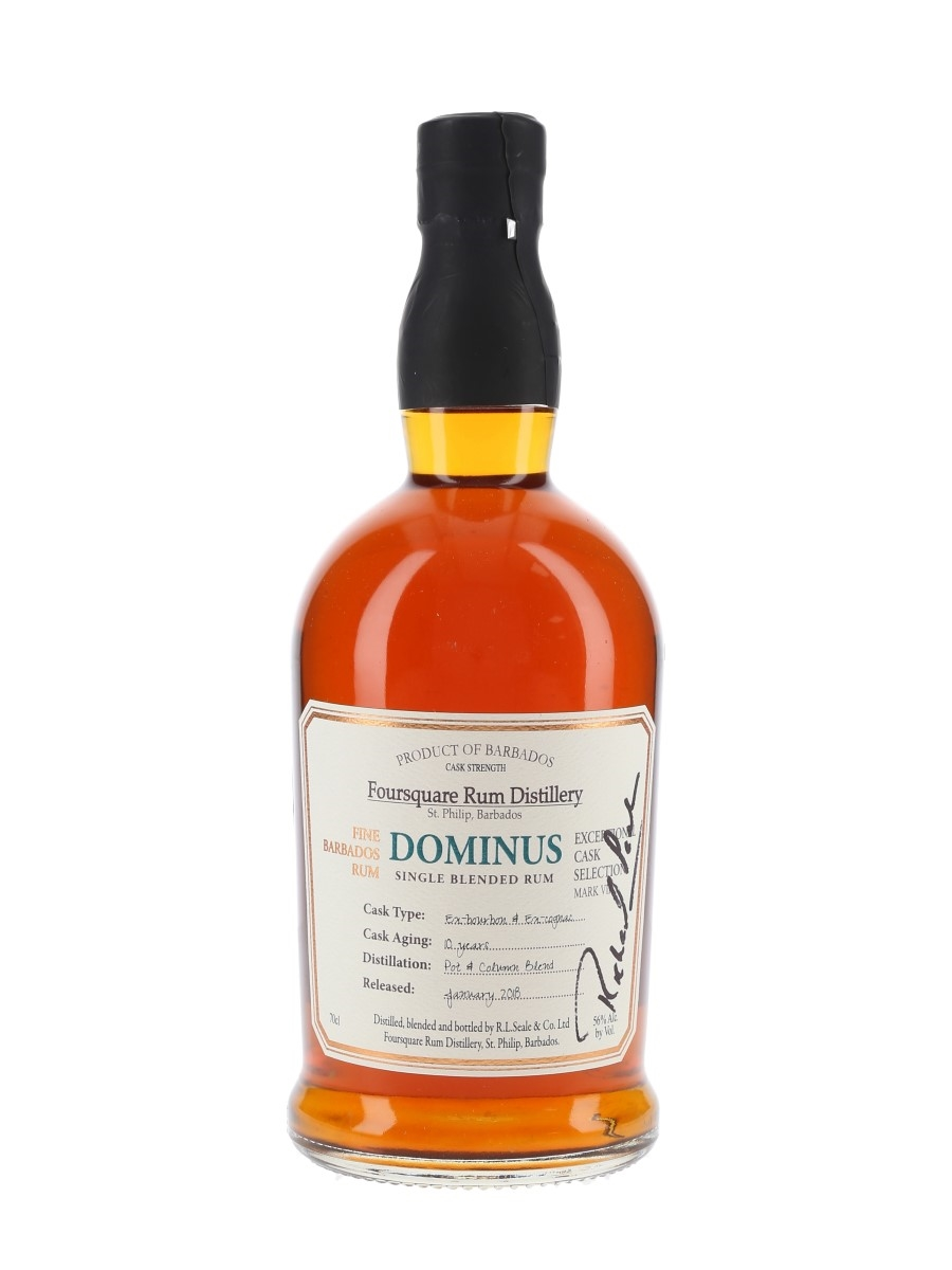 Foursquare Dominus 10 Year Old Exceptional Cask Bottled 2018 - Signed Bottle 70cl / 56%