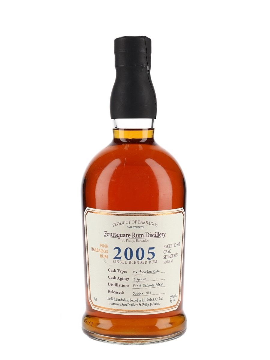 Foursquare 2005 12 Year Old Cask Strength Bottled 2017 - Exceptional Cask Selection Mark VI 70cl / 59%