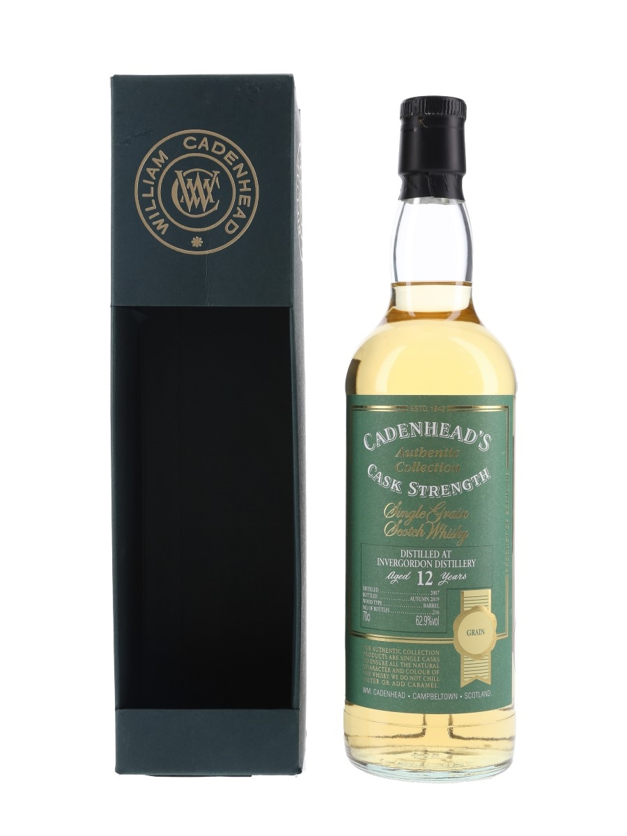 Invergordon 2007 12 Year Old Bottled 2019 - Cadenhead's 70cl / 62.9%
