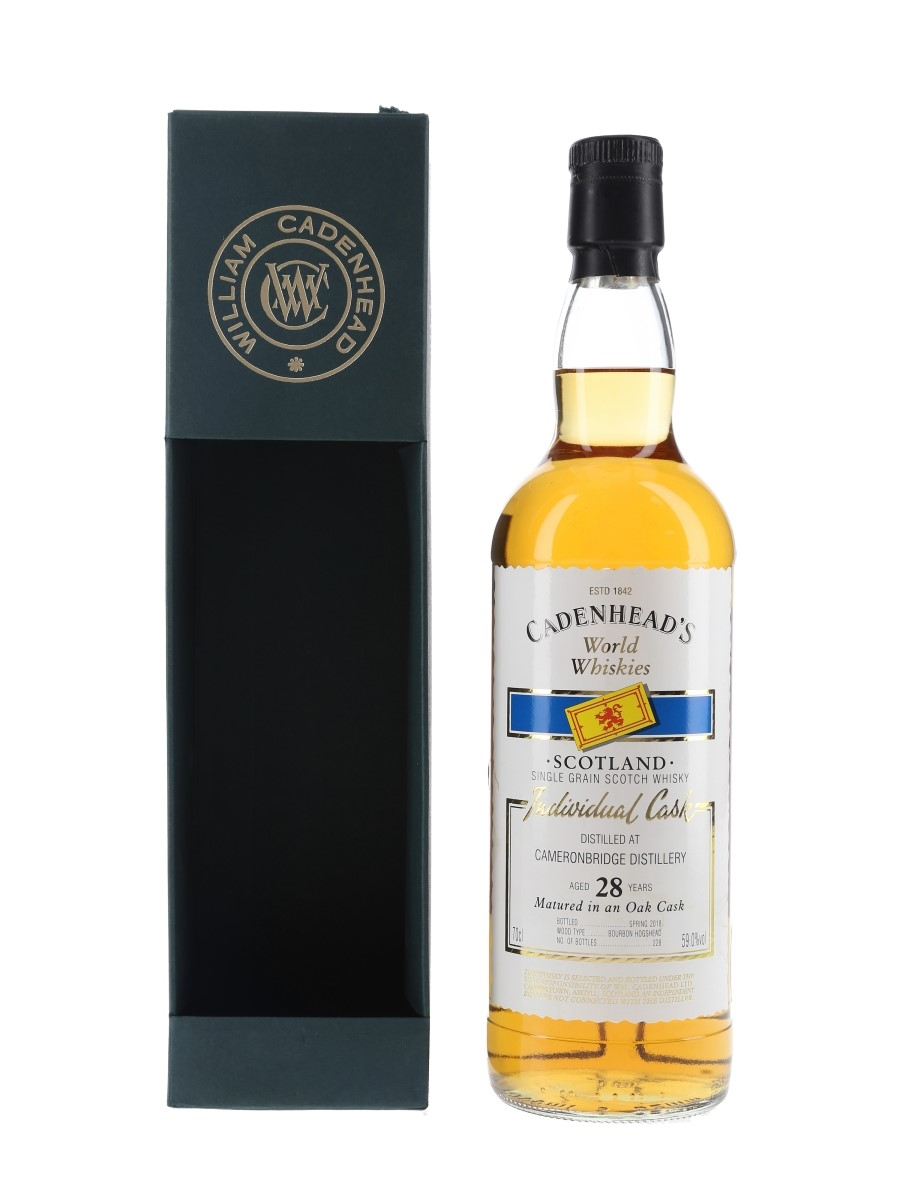 Cameronbridge 28 Year Old Bottled 2018 - Cadenhead's World Whiskies 70cl / 59%