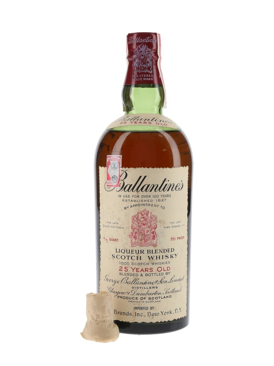 Ballantine's 25 Year Old Bottled 1950s - 21 Brands 75cl / 43%