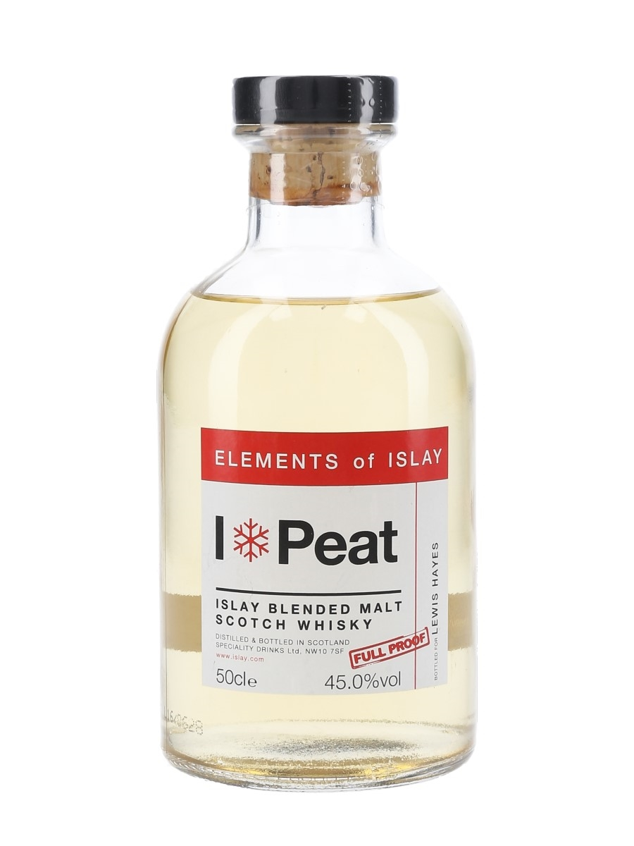 Elements Of Islay Peat Speciality Drinks Ltd - Personalised Label 50cl / 45%