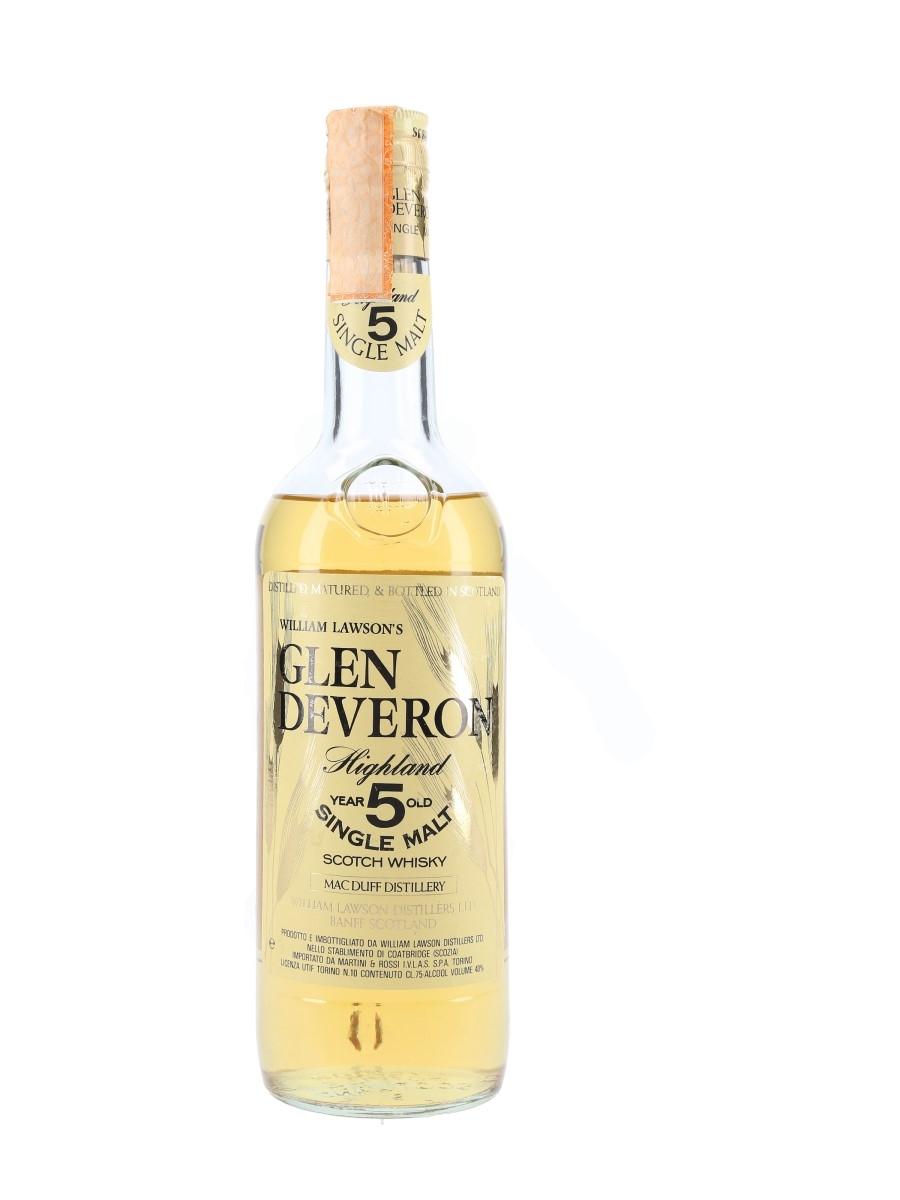 Glen Deveron 5 Year Old Bottled 1970s-1980s - Martini & Rossi 75cl / 40%