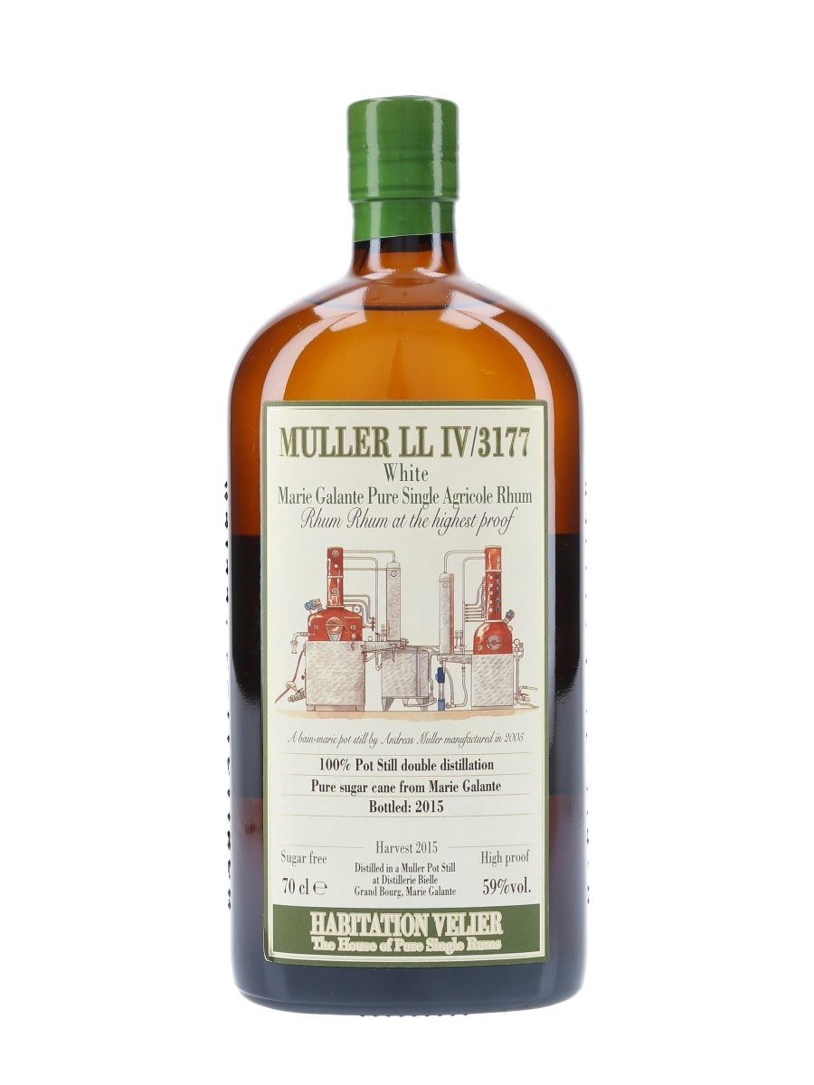 Muller LL IV-3177 White Marie Galante Full Proof Rhum Bottled 2015 - Habitation Velier 70cl / 59%
