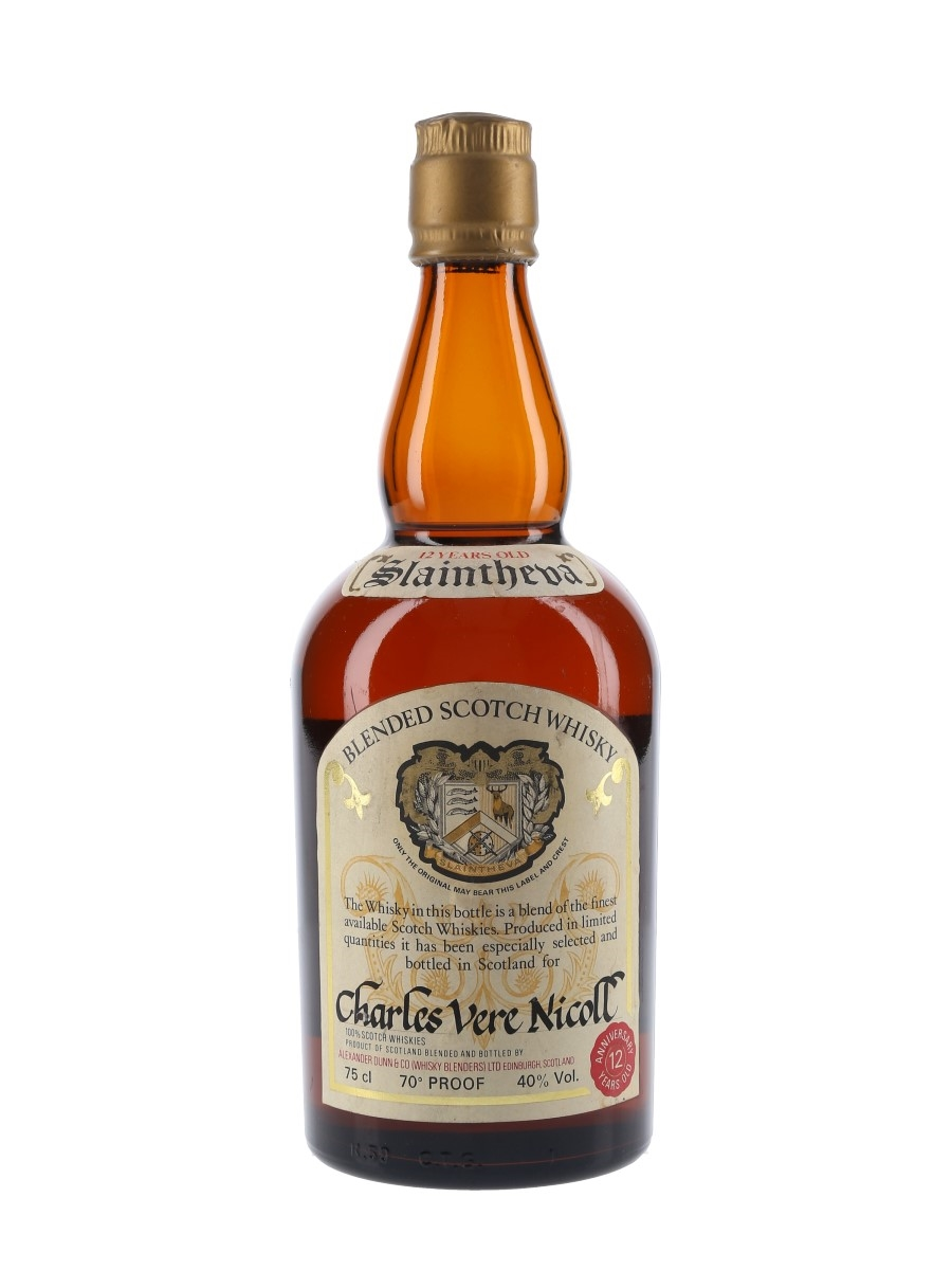 Slaintheva 12 Year Old Bottled 1970s 75cl / 40%