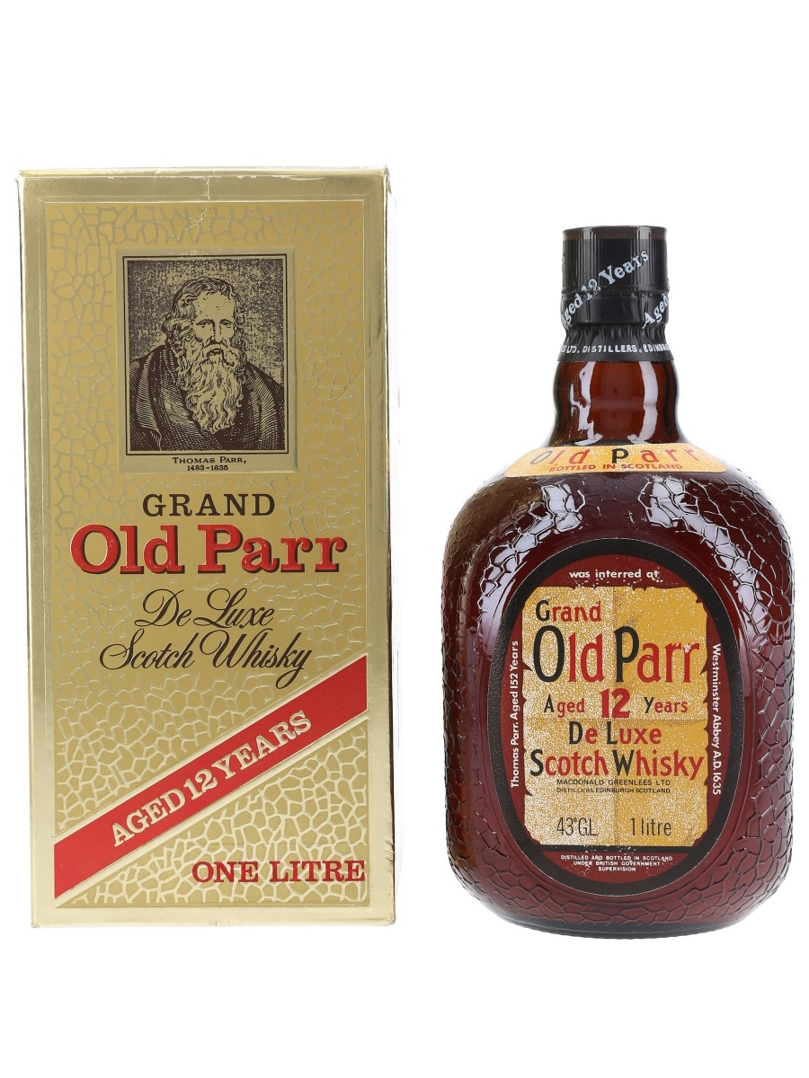 Grand Old Parr 12 Year Old De Luxe Bottled 1980s 100cl / 43%