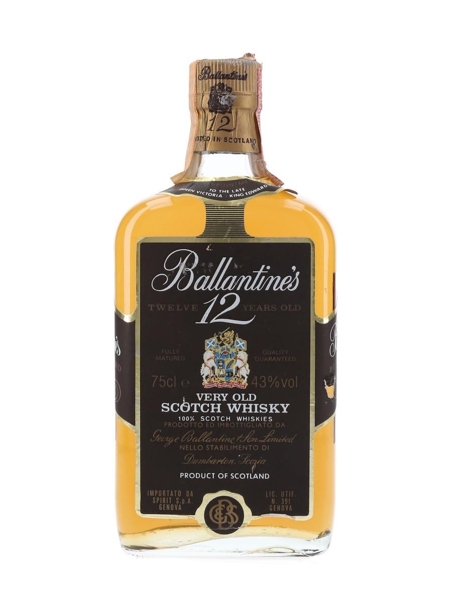 Ballantine's 12 Year Old Bottled 1980s - Spirit 75cl / 43%