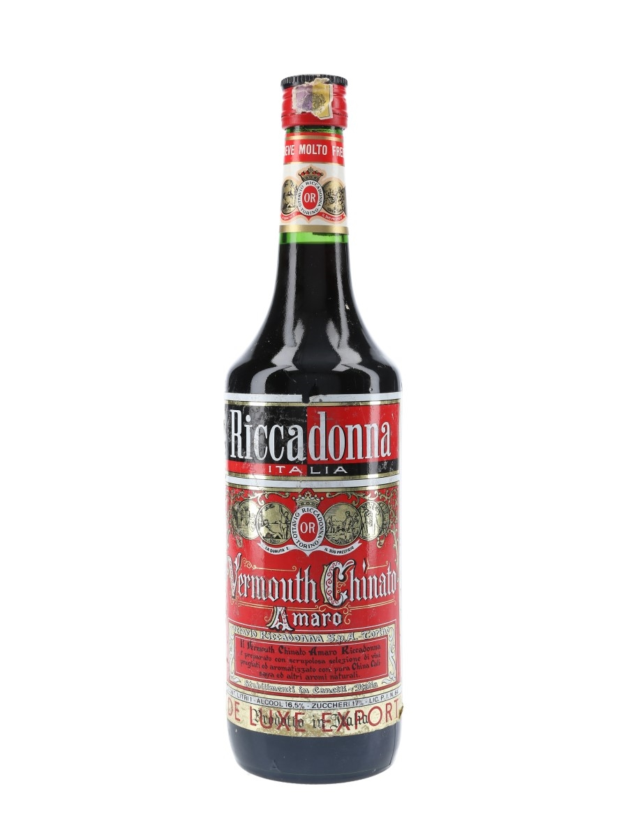 Riccadonna Vermouth Chinato Amaro Bottled 1970s 100cl / 16.5%