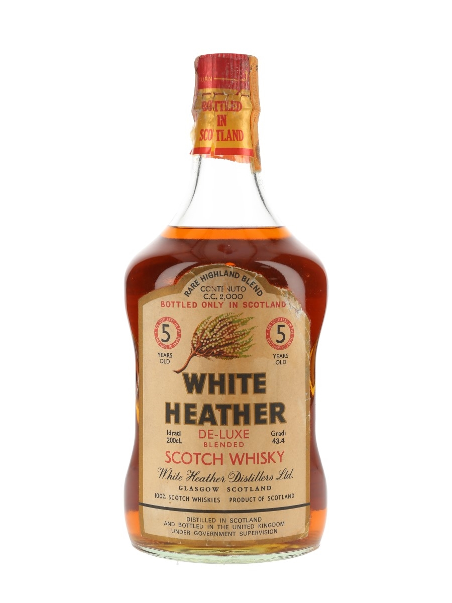 White Heather 5 Year Old Bottled 1970s - Rinaldi - Large Format 200cl / 43.4%