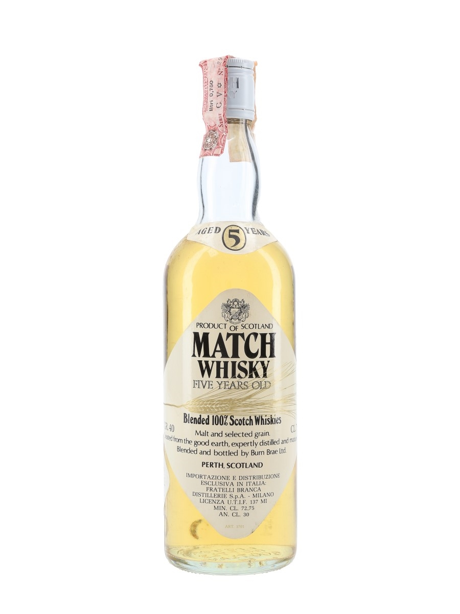 Match 5 Year Old Bottled 1980s - Fratelli Branca 75cl / 40%