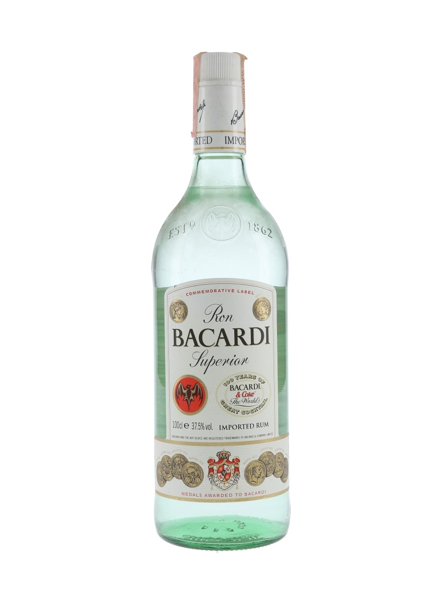 Bacardi Superior Bottled 1980s - 100 Years Of Cuba Libre 100cl / 37.5%