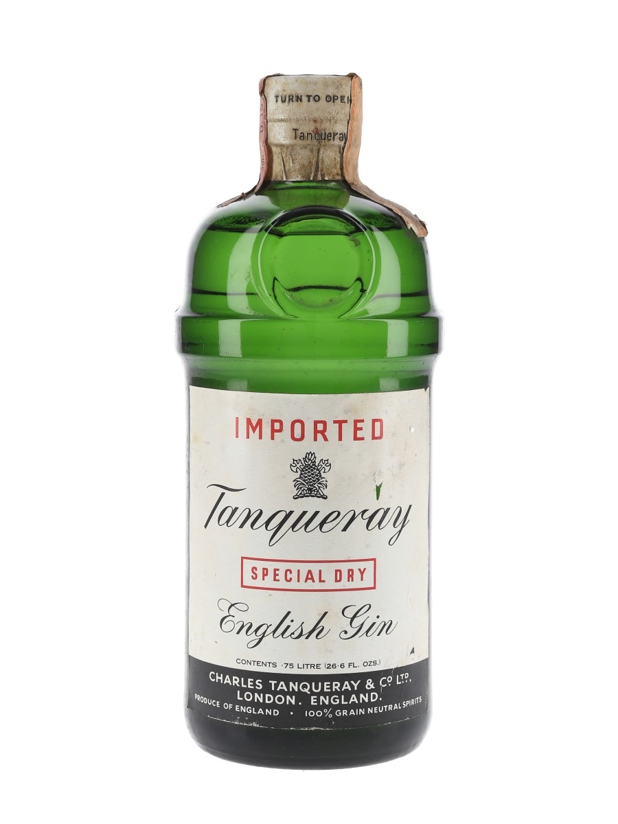 Tanqueray Special Dry Gin Bottled 1960s - Gancia 75cl / 43%