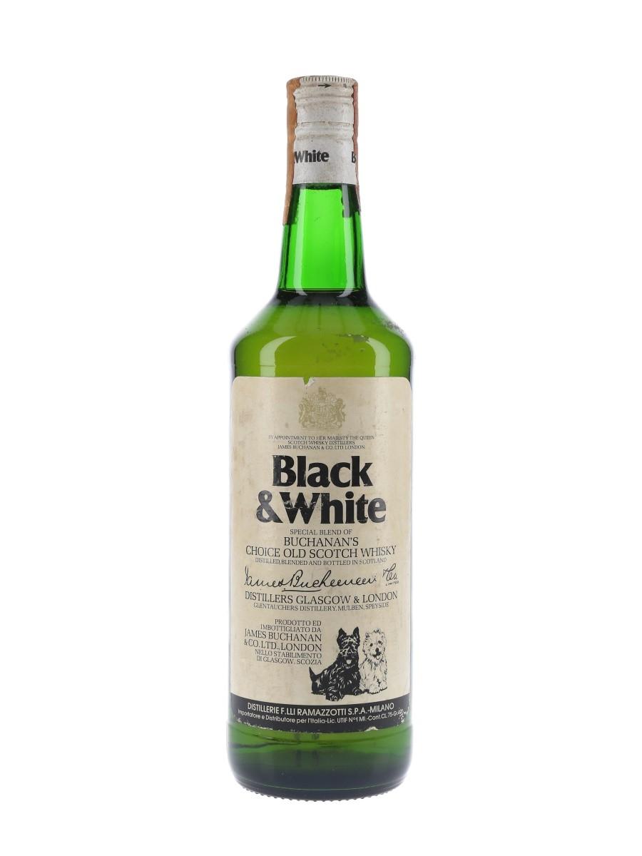 Buchanan's Black & White Bottled 1970s - Ramazzotti 75cl / 40%