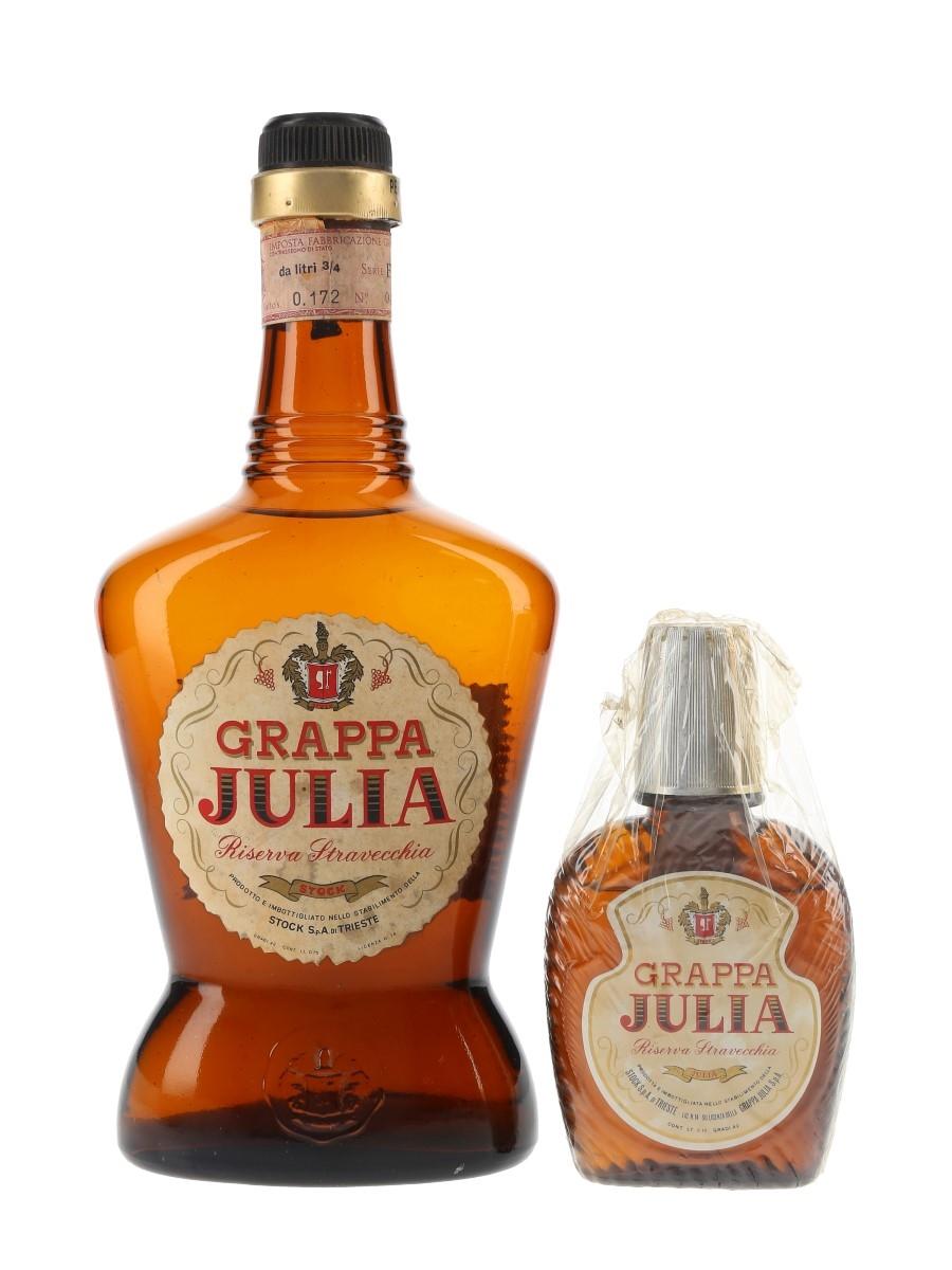 Julia Grappa Riserva Stravecchia Bottled 1960s & 1970s - Stock 10cl & 75cl / 42%