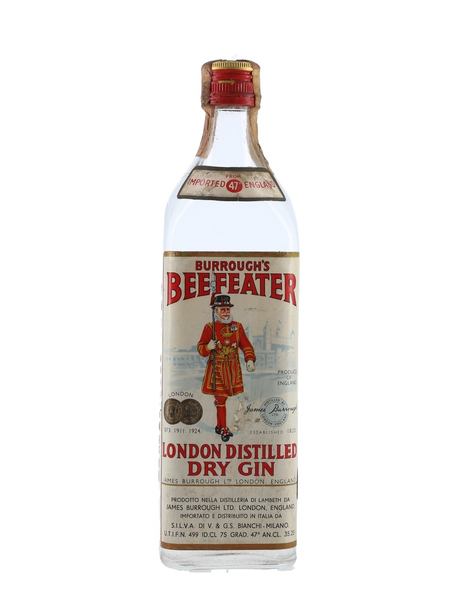 Burrough's Beefeater London Dry Gin Bottled 1960s - Silva 75cl / 47%
