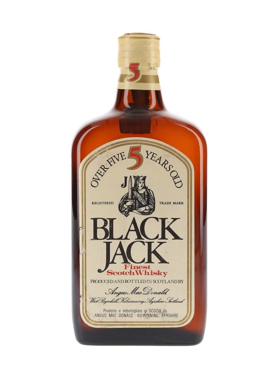 Black Jack 5 Year Old Bottled 1970s-1980s - Fabbri 75cl / 40%