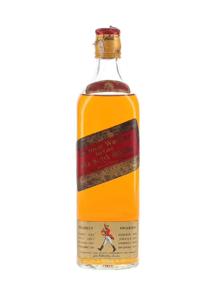 Johnnie Walker Red Label Bottled 1970s - Wax & Vitale 75cl / 40%