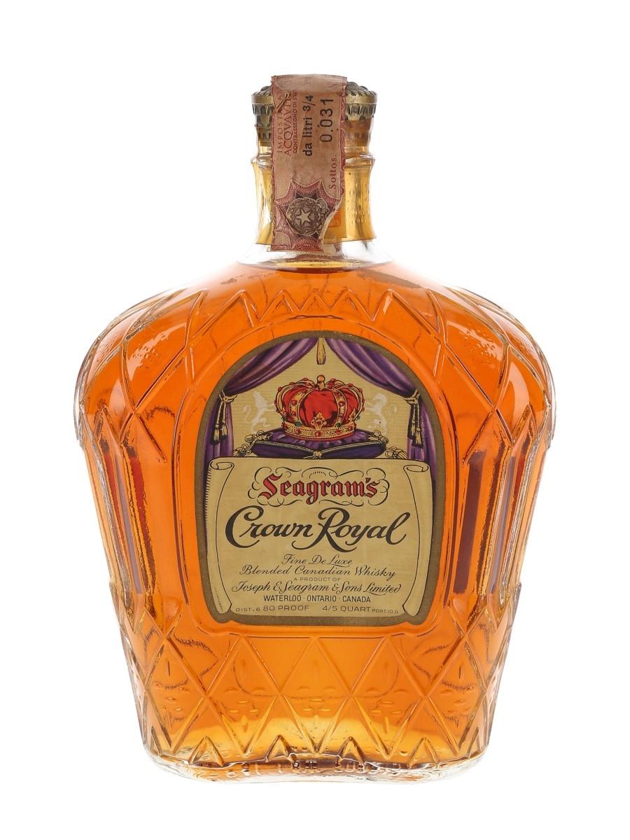 Seagram's Crown Royal Bottled 1960s 75cl / 40%