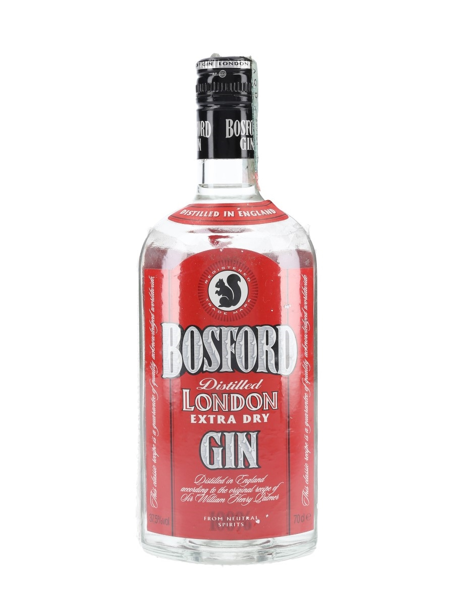 Bosford Extra Dry Gin Bottled 1990s - Martini & Rossi 70cl / 37.5%