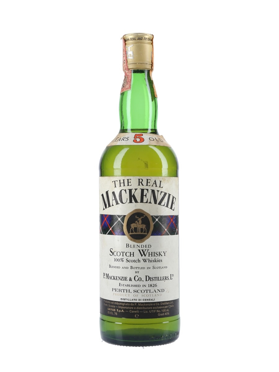 The Real Mackenzie 5 Year Old Bottled 1980s - Savas 75cl / 40%