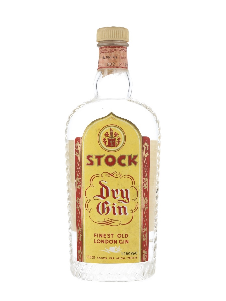Stock Dry Gin Bottled 1950s 75cl / 45%
