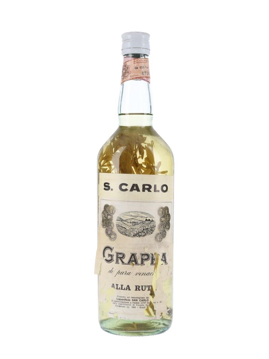 San Carlo Grappa Alla Ruta Bottled 1960s 100cl
